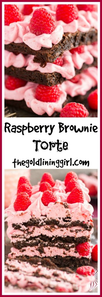 Raspberry Brownie Torte pin