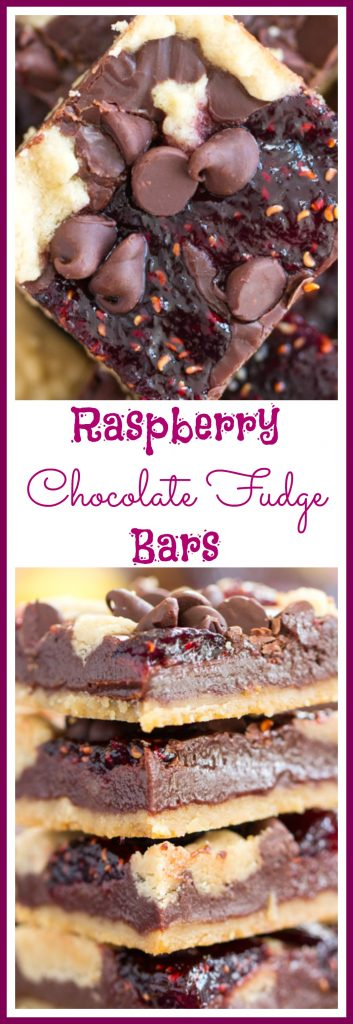 Raspberry Chocolate Chip Bars pin