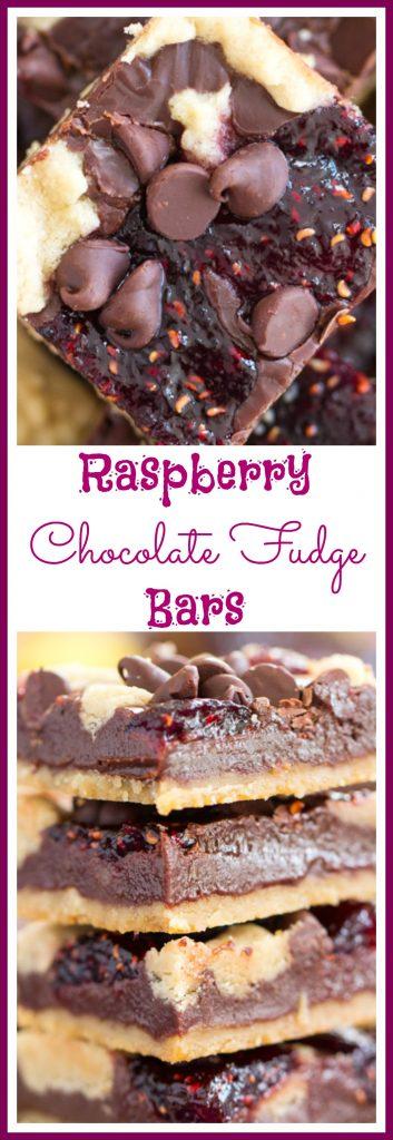 Raspberry Chocolate Chip Bars pin