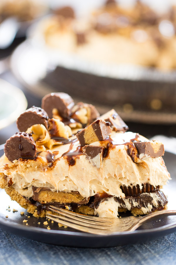 Reese's Cup No Bake Peanut Butter Pie recipe image (15)