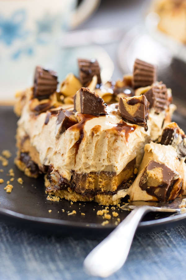 Reese's Cup No Bake Peanut Butter Pie recipe image (22)