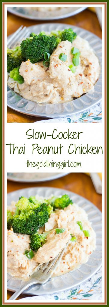 Slow-Cooker Thai Peanut Chicken Recipe pin
