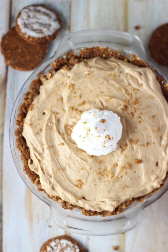 no bake biscoff cheesecake with oatmeal cookie crust 11