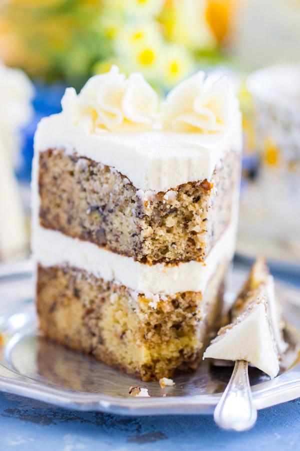 Banana Rum Cake image thegoldlininggirl.com (25)