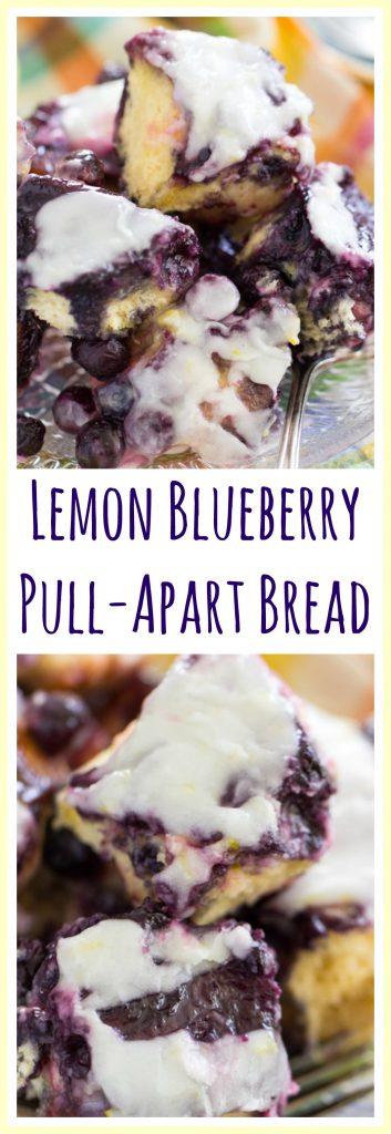 Blueberry Lemon Pull-Apart Bread image thegoldlininggirl.com pin