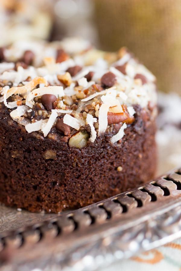 Coconut Pecan Chocolate Cheesecake Muffins image thegoldlininggirl.com (12)