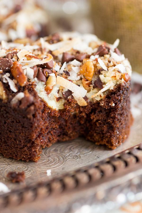 Coconut Pecan Chocolate Cheesecake Muffins image thegoldlininggirl.com (18)