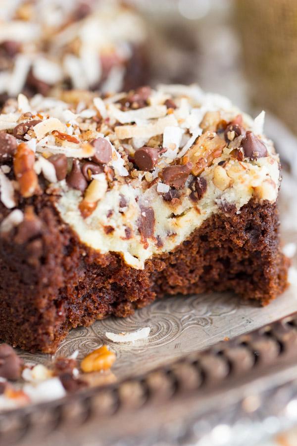 Coconut Pecan Chocolate Cheesecake Muffins image thegoldlininggirl.com (20)