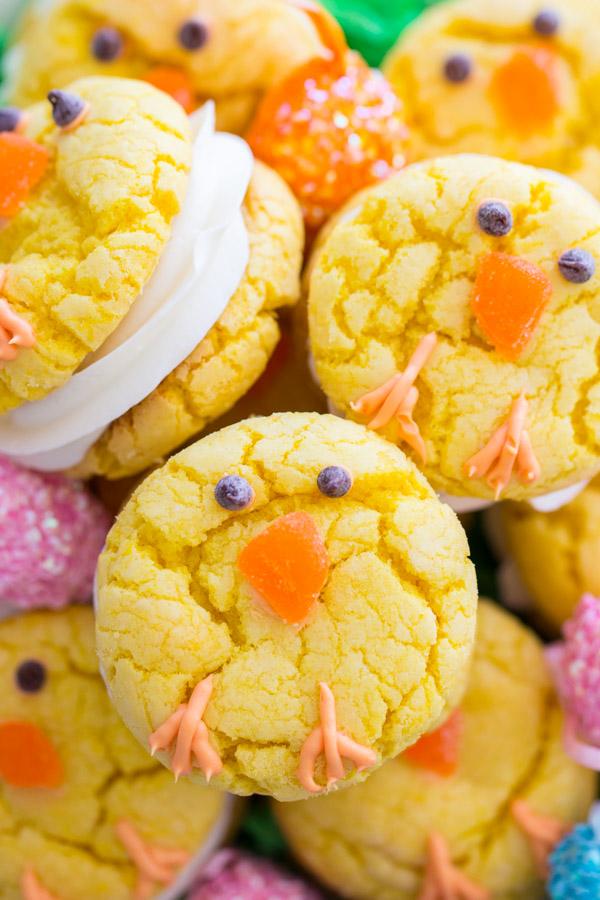Easter Chick Cookies image thegoldlininggirl.com (1)