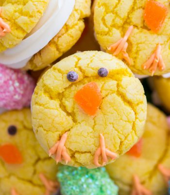 Easter Chick Cookies image thegoldlininggirl.com (2)