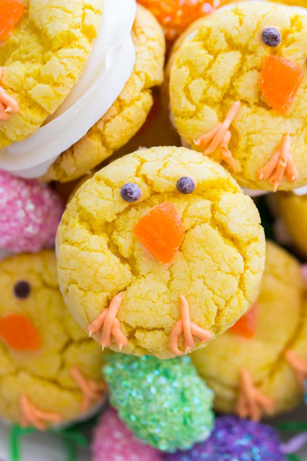 Easter Chick Cookies image thegoldlininggirl.com (2)