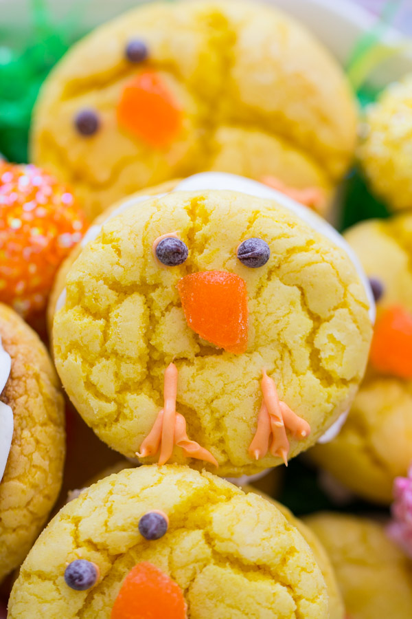 Easter Chick Cookies image thegoldlininggirl.com (3)