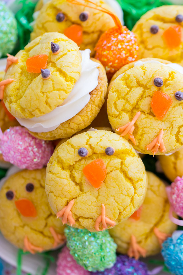 Easter Chick Cookies image thegoldlininggirl.com (4)