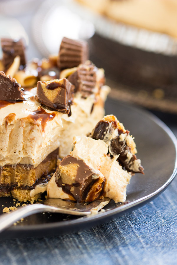 Reese's Cup No Bake Peanut Butter Pie recipe image (21)