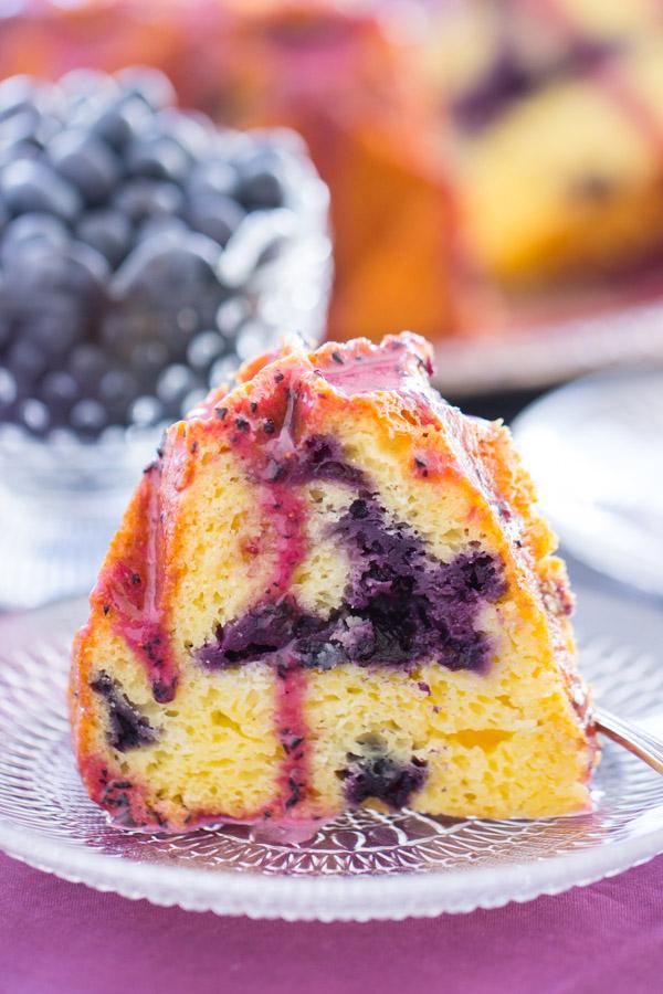 Blueberry Bundt Cake with Blueberry Glaze image thegoldlininggirl (15)