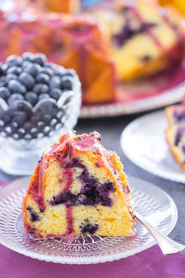 Blueberry Bundt Cake with Blueberry Glaze image thegoldlininggirl (16)