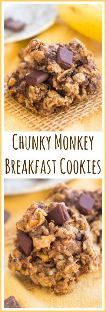 Chunky Monkey Cookies image thegoldlininggirl.com pin