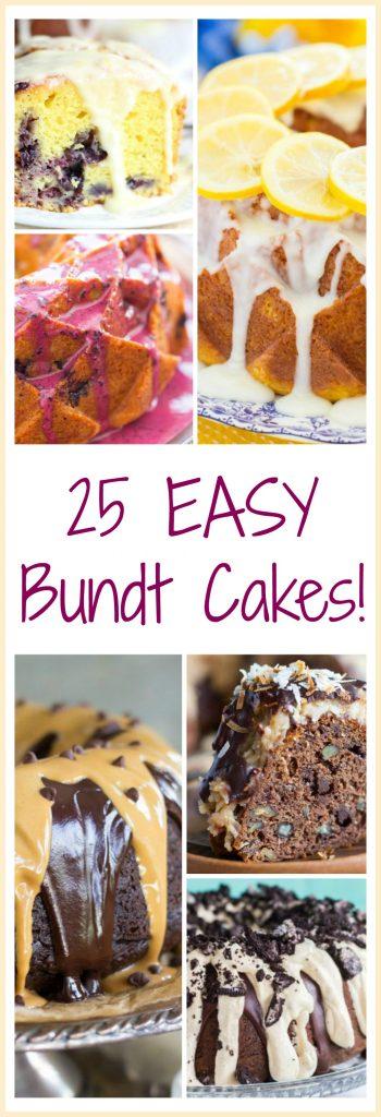Easy Bundt Cake recipes pin
