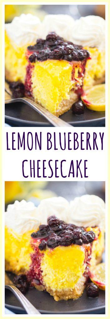 Lemon Blueberry Cheesecake pin