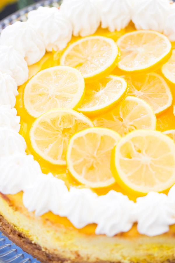 Lemon Blueberry Cheesecake recipe thegoldlininggirl.com10