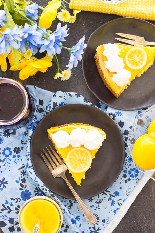 Lemon Blueberry Cheesecake recipe thegoldlininggirl.com20