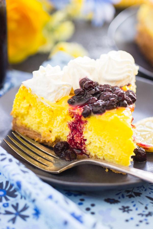 Lemon Blueberry Cheesecake recipe thegoldlininggirl.com23