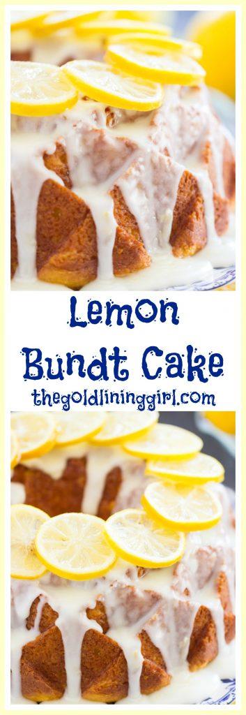 Lemon Bundt Cake image thegoldlininggirl pin 2
