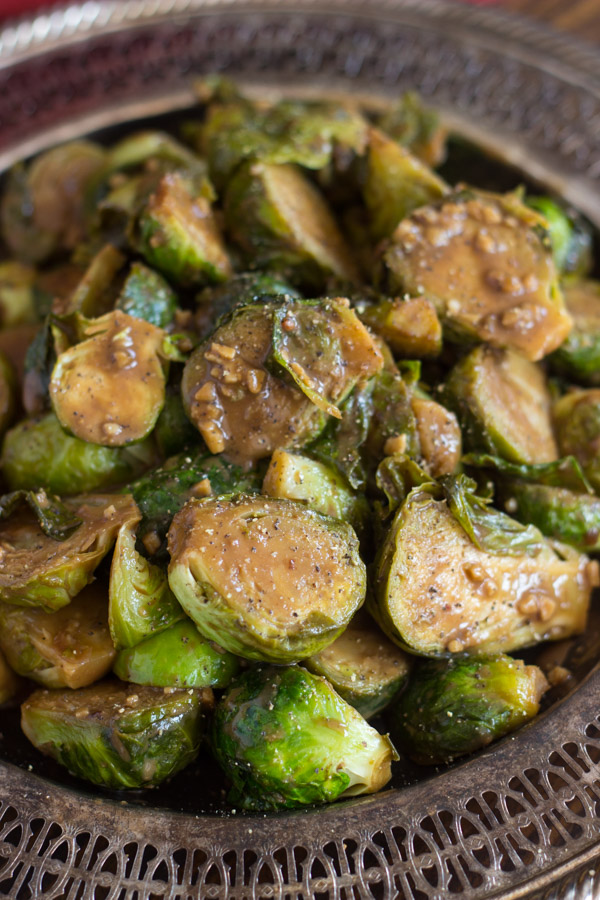 Mustard Balsamic Brussels Sprouts image thegoldlininggirl.com (1)
