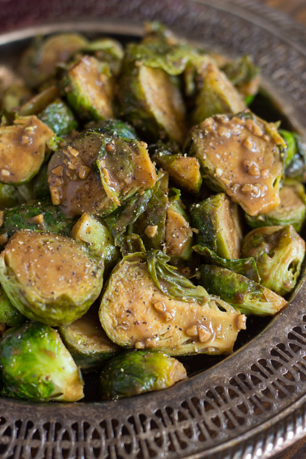 Mustard Balsamic Brussels Sprouts image thegoldlininggirl.com (2)