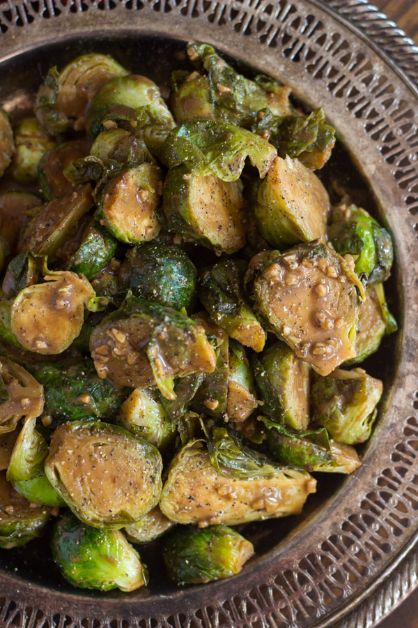 Mustard Balsamic Brussels Sprouts image thegoldlininggirl.com (5)