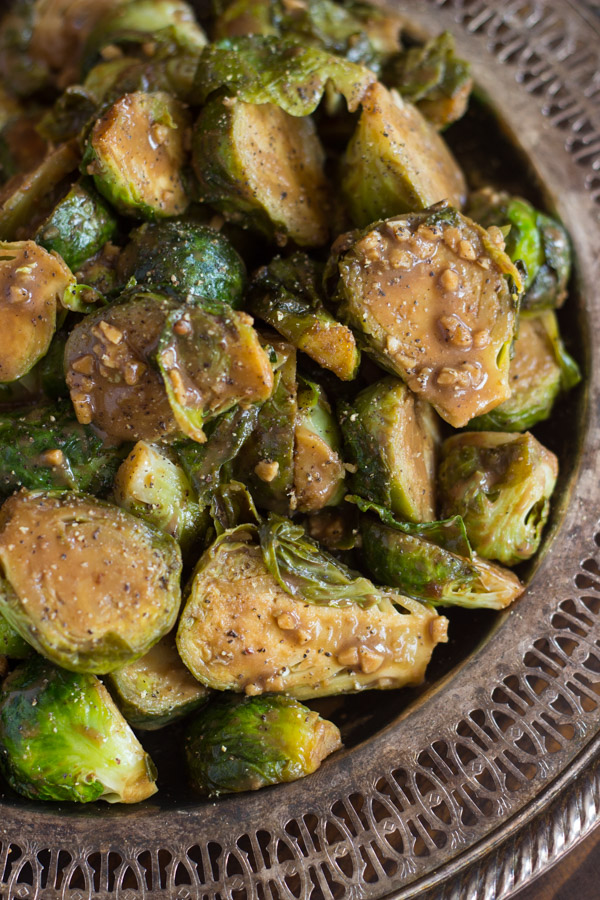 Mustard Balsamic Brussels Sprouts image thegoldlininggirl.com (6)