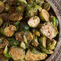 Dijon Balsamic Brussels Sprouts
