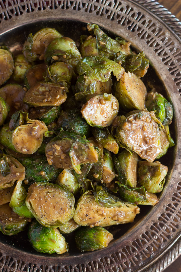 Mustard Balsamic Brussels Sprouts image thegoldlininggirl.com (7)