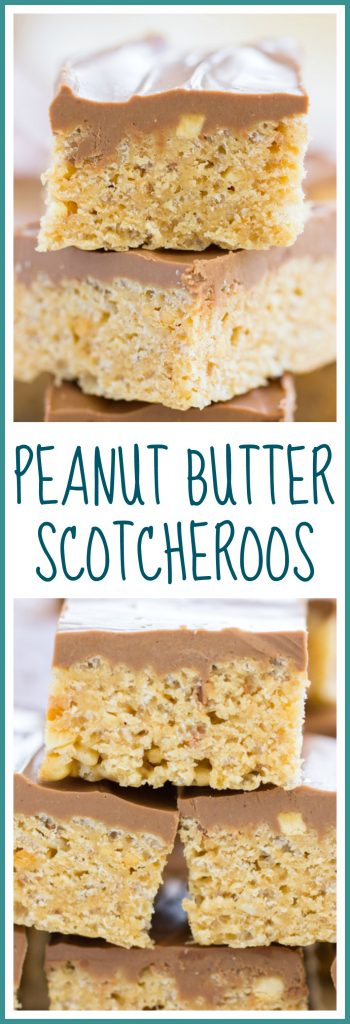 Peanut Butter Scotcheroos image pin