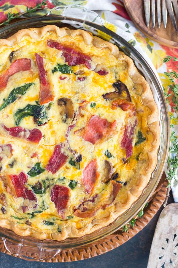 Quiche Pie recipe thegoldlininggirl.com (1)