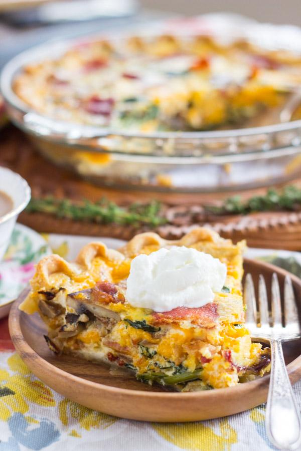 Quiche Pie recipe thegoldlininggirl.com (12)