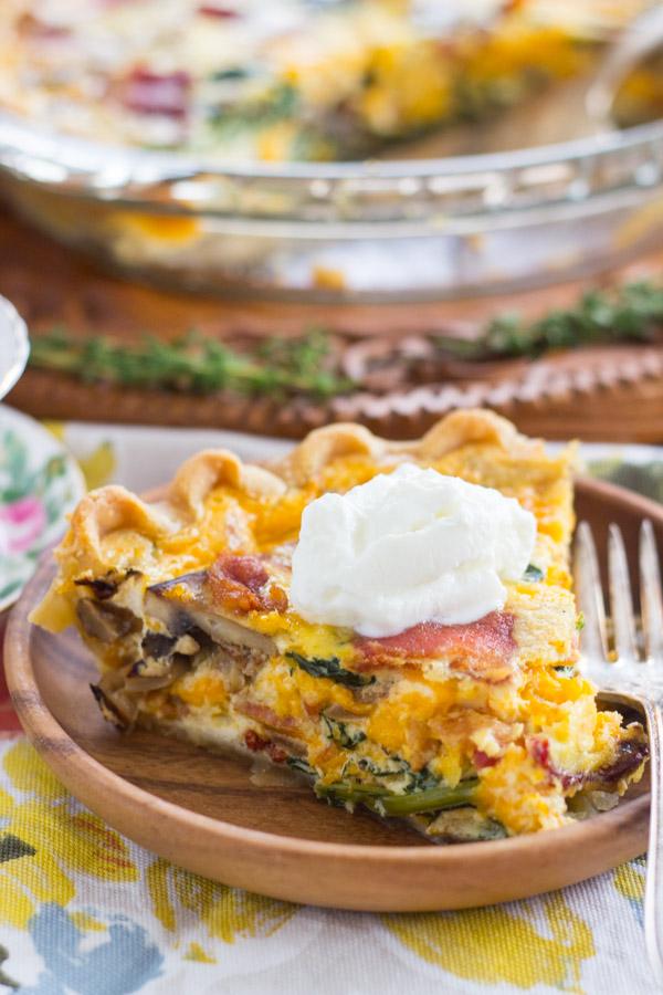 Quiche Pie recipe thegoldlininggirl.com (13)