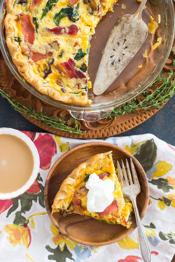 Quiche Pie recipe thegoldlininggirl.com (14)