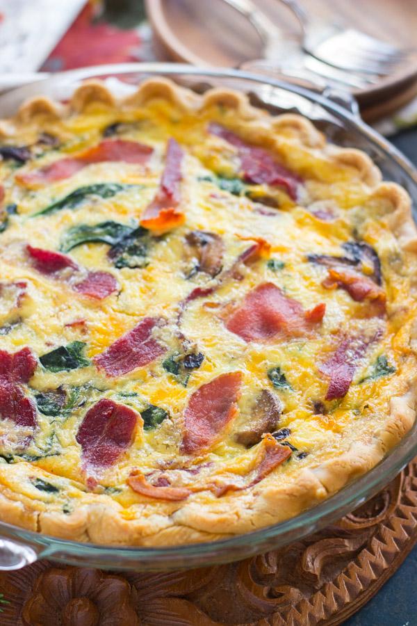 Quiche Pie recipe thegoldlininggirl.com (7)