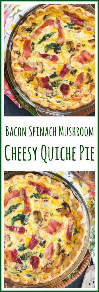 Quiche Pie recipe thegoldlininggirl.com pin