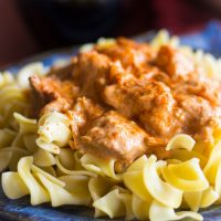 Slow-Cooker Chicken Paprikash