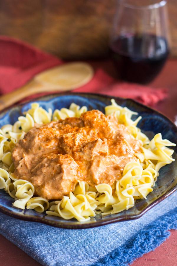Slow-Cooker Chicken Paprikash image thegoldlininggirl.com1