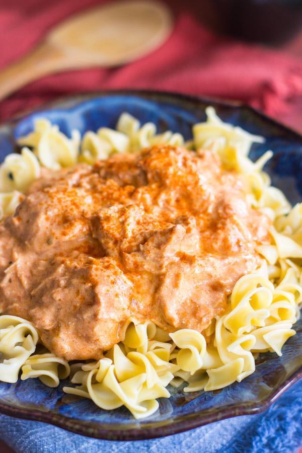 Slow-Cooker Chicken Paprikash image thegoldlininggirl.com3