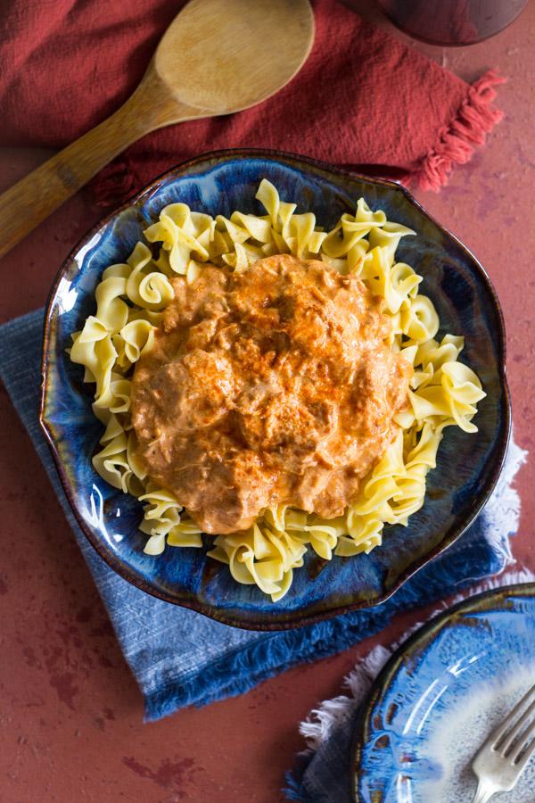 Slow-Cooker Chicken Paprikash image thegoldlininggirl.com8