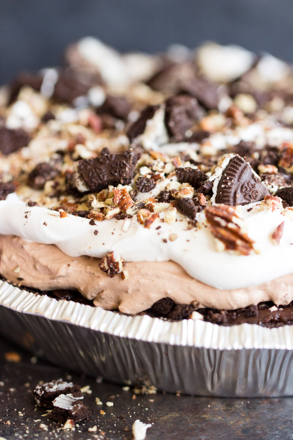 Chocolate Pudding Pie Recipe Thegoldlininggirl Image 1