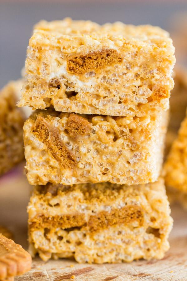 Cookie Butter Rice Krispie Treats image thegoldlininggirl.com 11