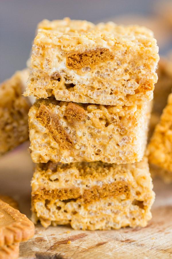 Cookie Butter Rice Krispie Treats image thegoldlininggirl.com 12