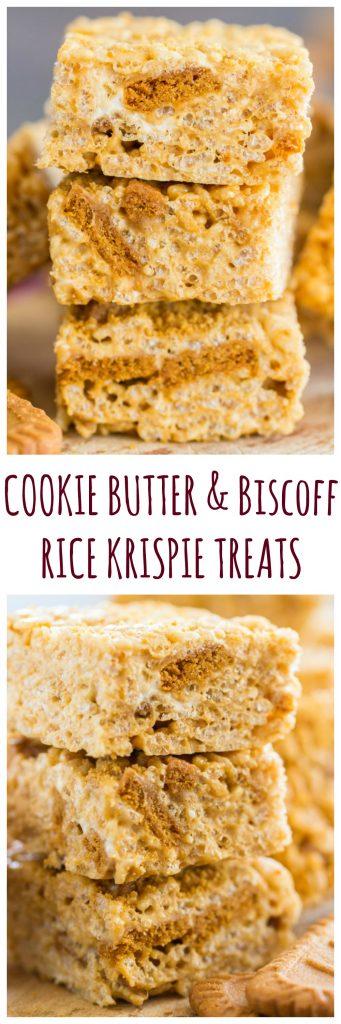 Cookie Butter Rice Krispie Treats pin