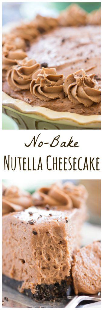 No Bake Nutella Cheesecake pin 3