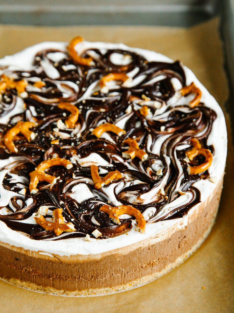 Oh Lady Cakes Salted Pretzel Chocolate Ice Cream Cake